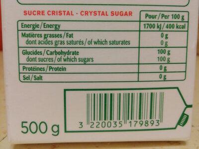 Sucre - Ingrediënten - fr