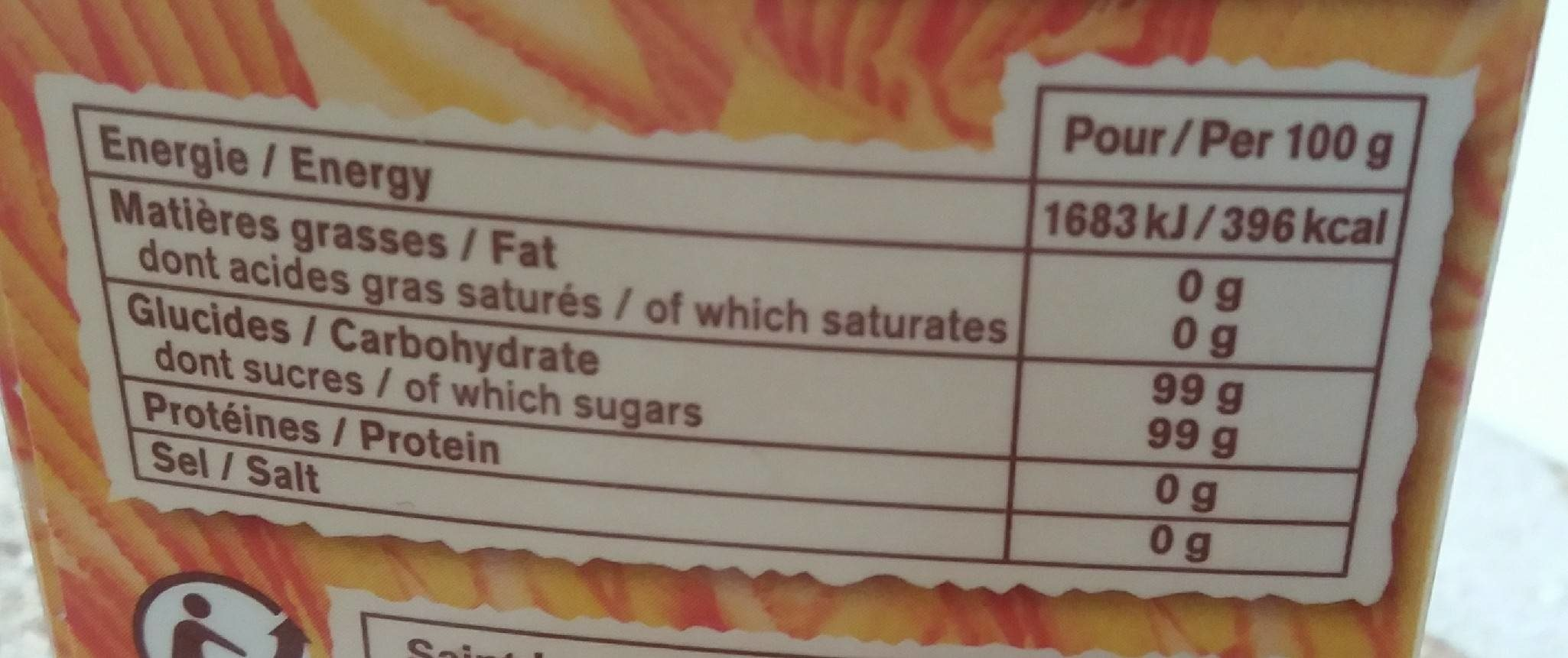 Doré de Canne - Nutrition facts - fr