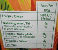 Cassonade - Informations nutritionnelles - fr