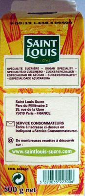 Sucre en poudre Bio Pure Canne Saint Louis - Ingrédients - fr