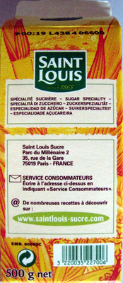 Sucre en poudre Bio Pure Canne Saint Louis - Ingrediënten