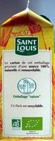 Sucre en poudre Bio Pure Canne Saint Louis - Voedingswaarden
