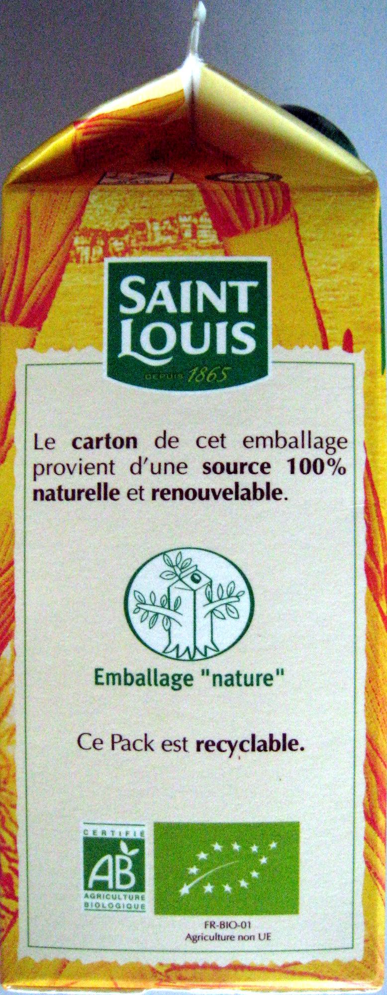 Sucre en poudre Bio Pure Canne Saint Louis - Informations nutritionnelles - fr