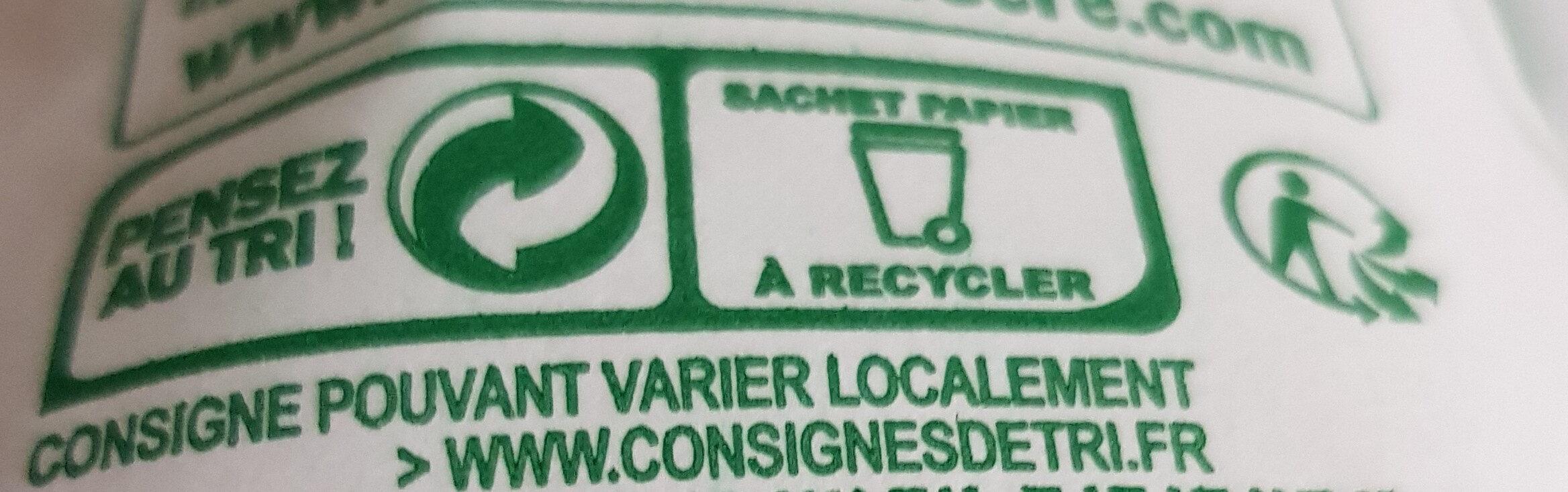 Sucre Cristal - Instruction de recyclage et/ou informations d'emballage - fr