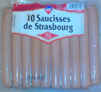 10 saucisses de Strasbourg - Product - fr