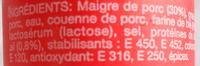 Saucisson cuit à l'ail - Ingredients - fr