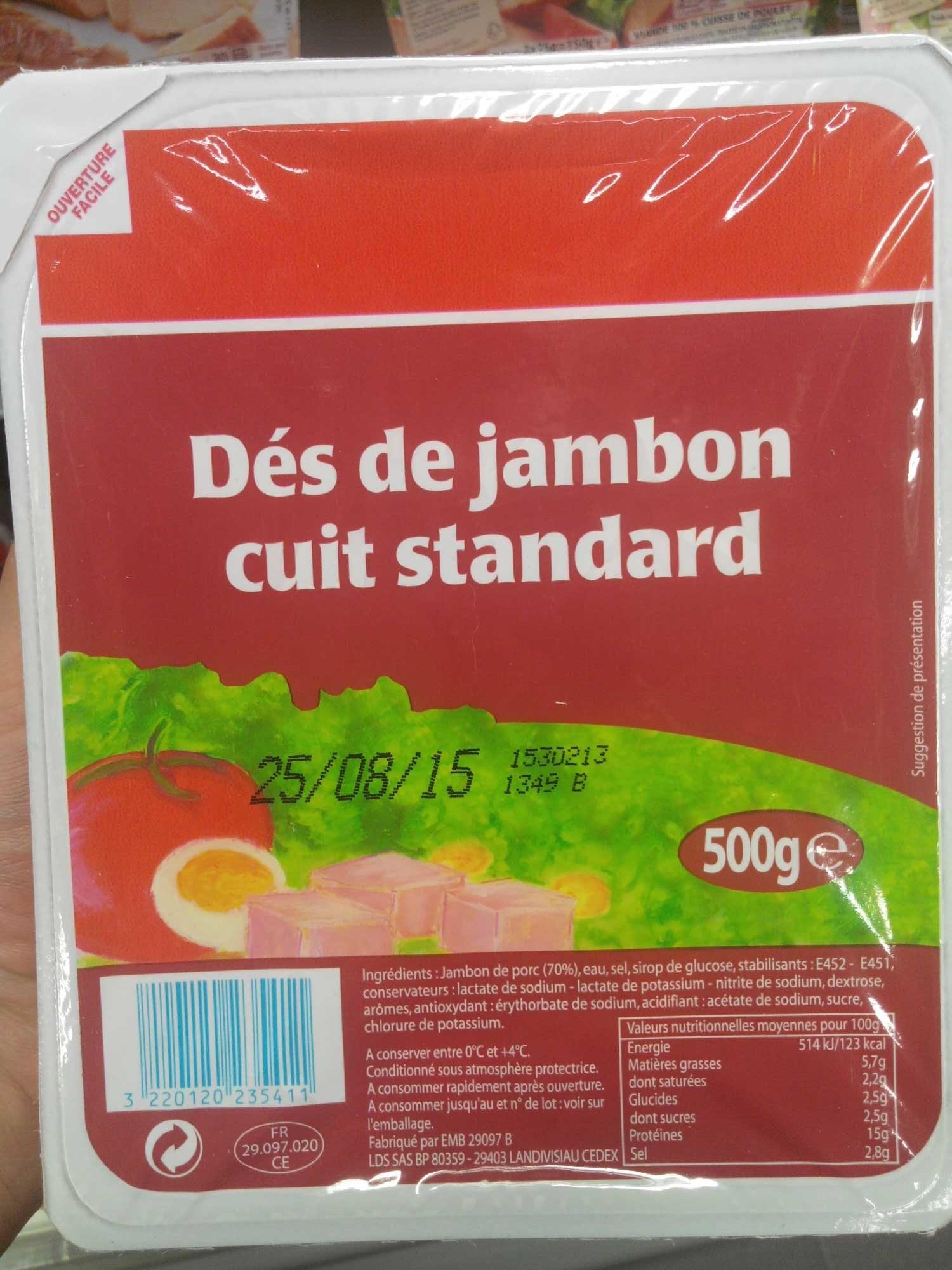 Dés de jambon cuit standard - Produit
