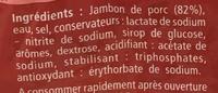 Jambon cuit choix découenné dégraissé - Ingrédients