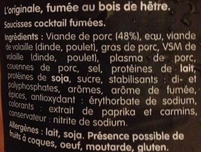 La cocktail L'originale - Ingrédients - fr
