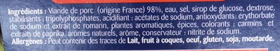 La Française Les Mini Saucisses L'Originale - Ingredients