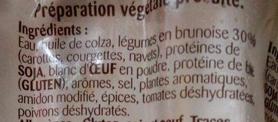 Saucisses aux légumes - Ingrédients - fr