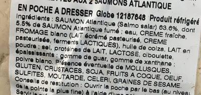 Rillettes aux saumons atlantique en poche à dresser - Ingrediënten - fr
