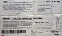 Feuilleté Croisillon Emmental - Product - fr
