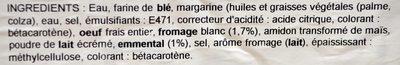 Feuilleté Croisillon Emmental - Ingrediënten - fr