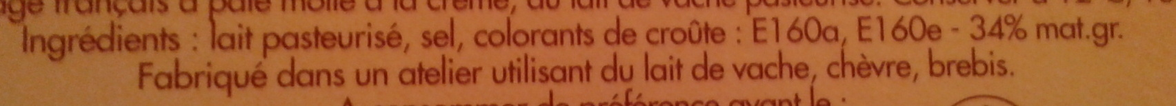 Crémeux et gourmand Saint Albray - Ingrediënten - fr