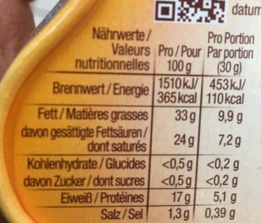 Crémeux et gourmand Saint Albray - Voedingswaarden - fr