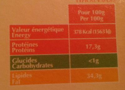 Saint Albray - Informations nutritionnelles - fr