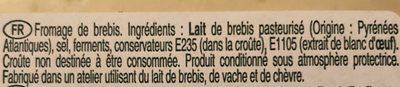 Etorki - Ingrédients - fr