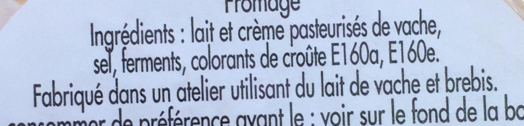 Petit Tourtain (33% MG) - Ingrediënten - fr