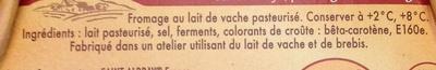 Saint Albray ® (33% MG) Format Familial - Ingrediënten - fr