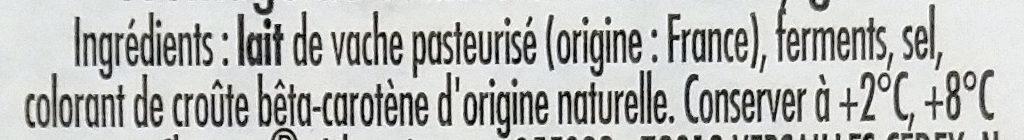 Le crémier - Ingrediënten