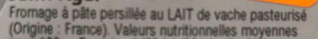 Saint Agur l'intense - Ingrédients - fr