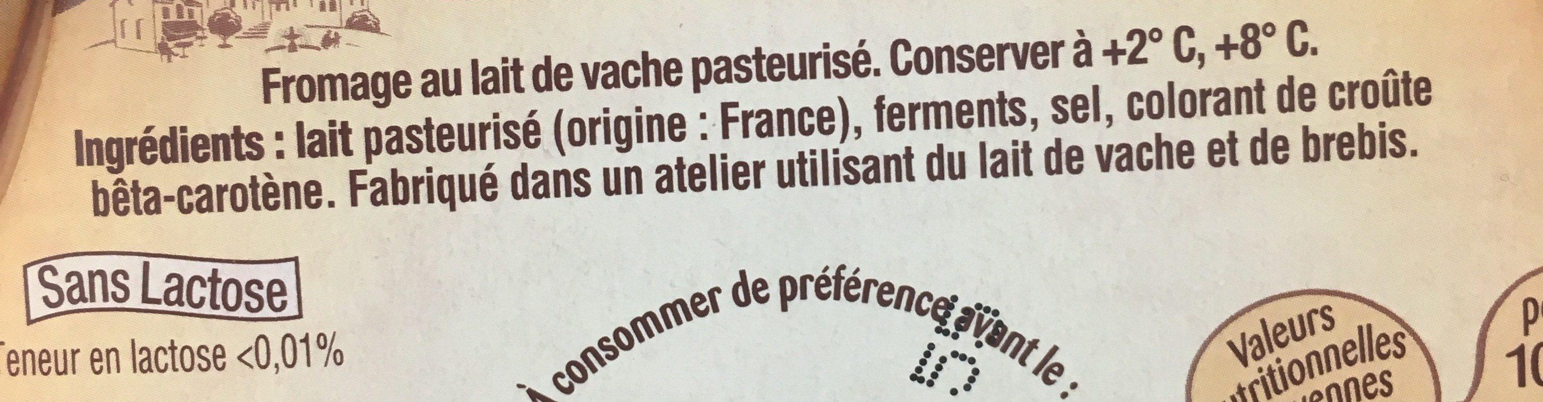 Saint Albray (offre €co) - Ingredients