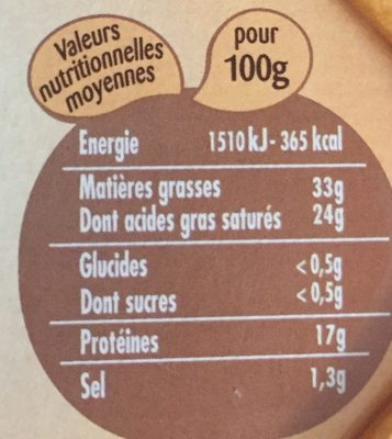 Saint Albray (offre €co) - Nutrition facts