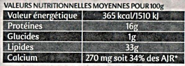 Saint Agur ® (33% MG) - Offre €co - Informations nutritionnelles - fr