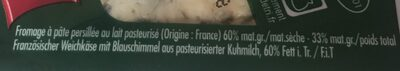 Fromage à Pâte Persillée - Ingrédients - fr