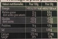 Saint Agur (+15% gratuit) - Informations nutritionnelles - fr