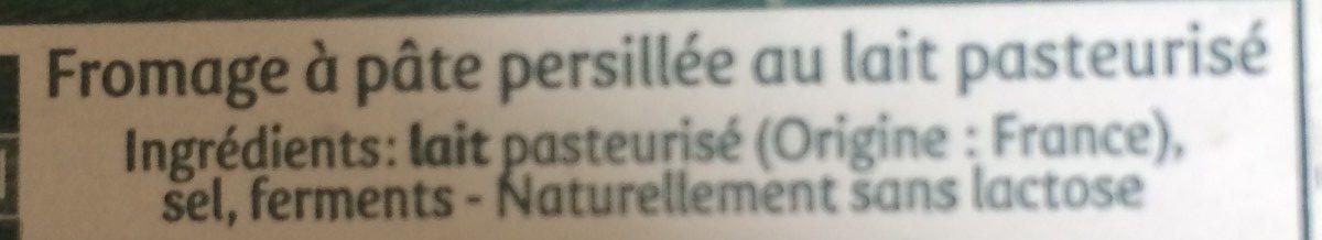 Saint Agur (format familial) (33% MG) - Ingrédients - fr