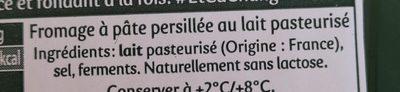 Force et fondant à la fois - Fromage à pâte persillée fabriqué en Velay - Ingrédients - fr
