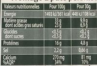 Force et fondant à la fois - Fromage à pâte persillée fabriqué en Velay - Informations nutritionnelles - fr