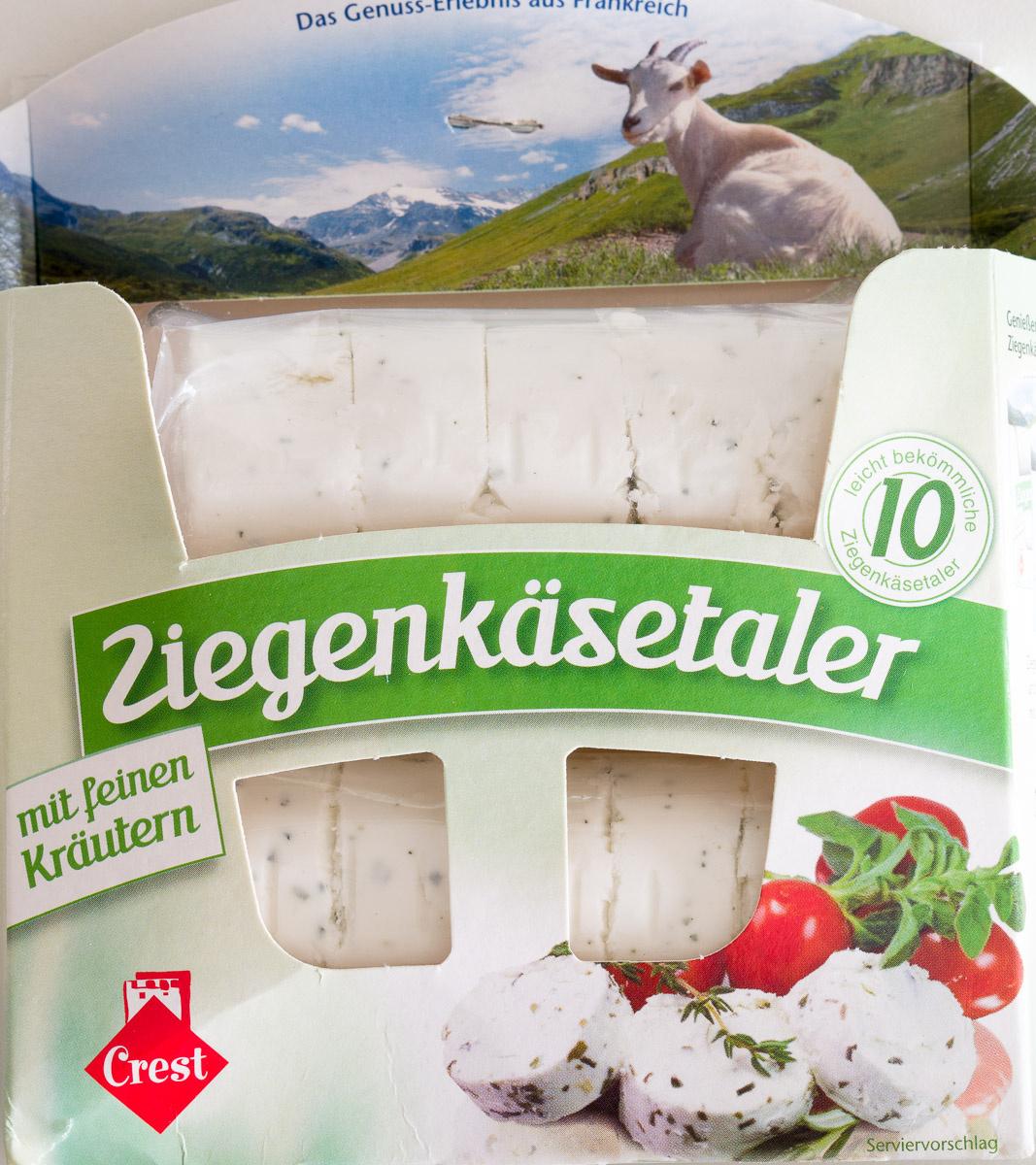 Crest Foods Company Mail: Ziegenkäsetaler Mit Feinen Kräutern