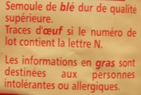 Gansettes - pates de qualité supérieure - Ingrediënten - fr