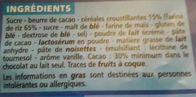 Lait riz croustillant - CASINO - Ingredients - fr
