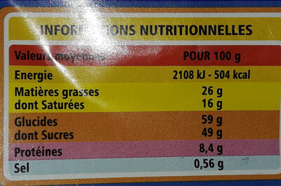 Lait riz croustillant - CASINO - Nutrition facts - fr