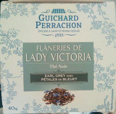 Flâneries de Lady Victoria - Thé noir Earl grey avec pétales de bleuet - Product - fr
