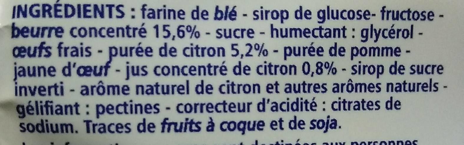 Tartelettes au citron Pur beurre - Ingrédients - fr