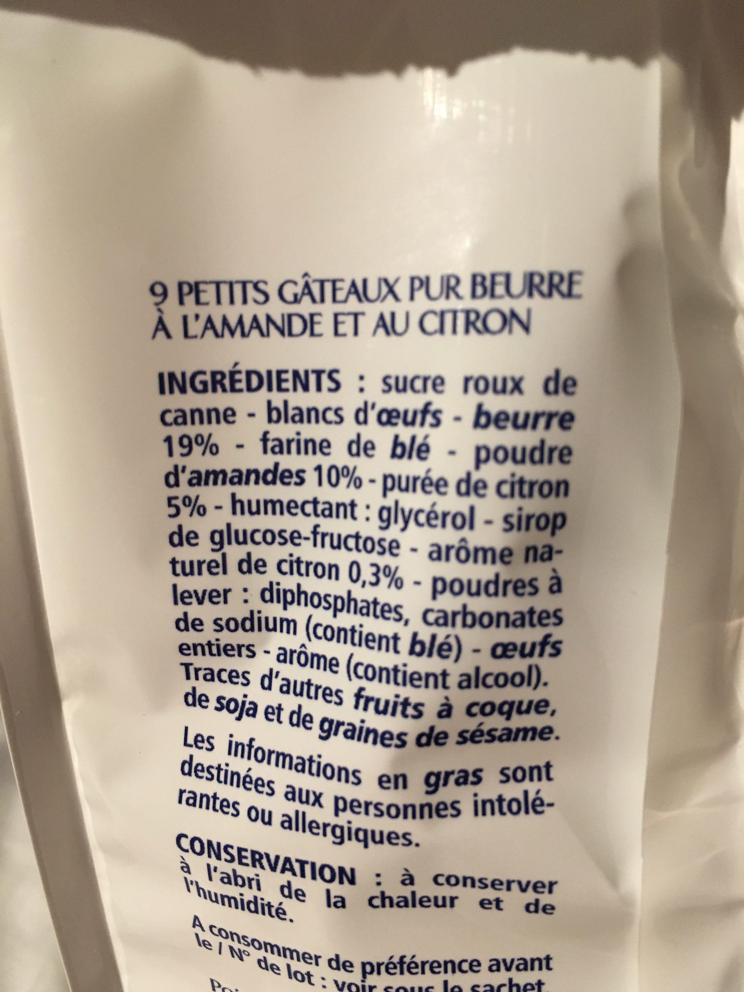 Les petits moelleux au citron pur beurre - Ingrédients - fr