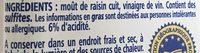 Vinaigre balsamique de Modène IGP - Ingredients