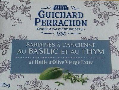 Sardines à l'ancienne au basilic et au thym à l'huile d'olive vierge extra - Produit - fr