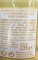 Mayonnaise à la moutarde de Dijon - Inhaltsstoffe