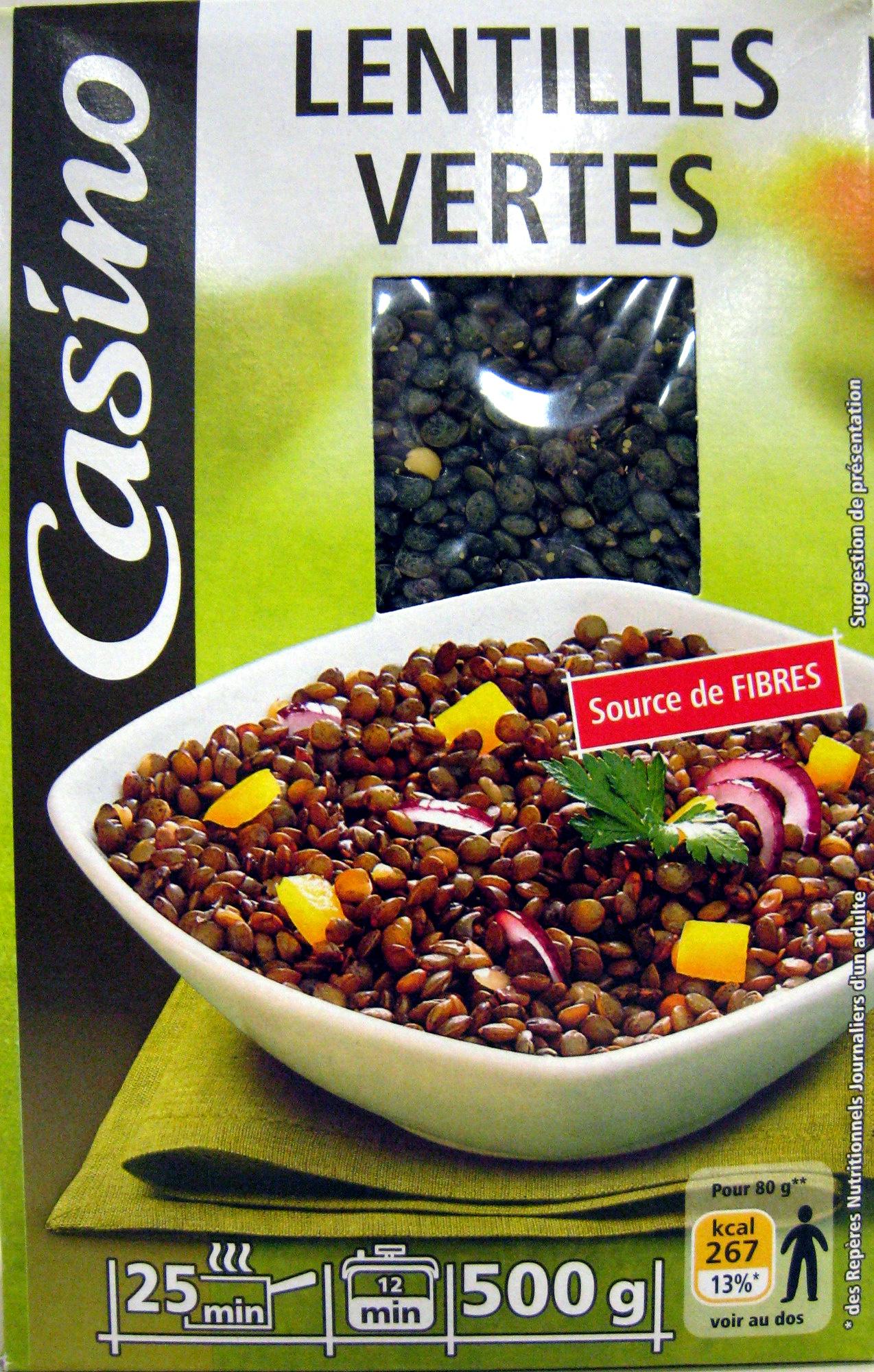 Lentilles vertes casino 500 g - Cuisiner lentilles seches ...