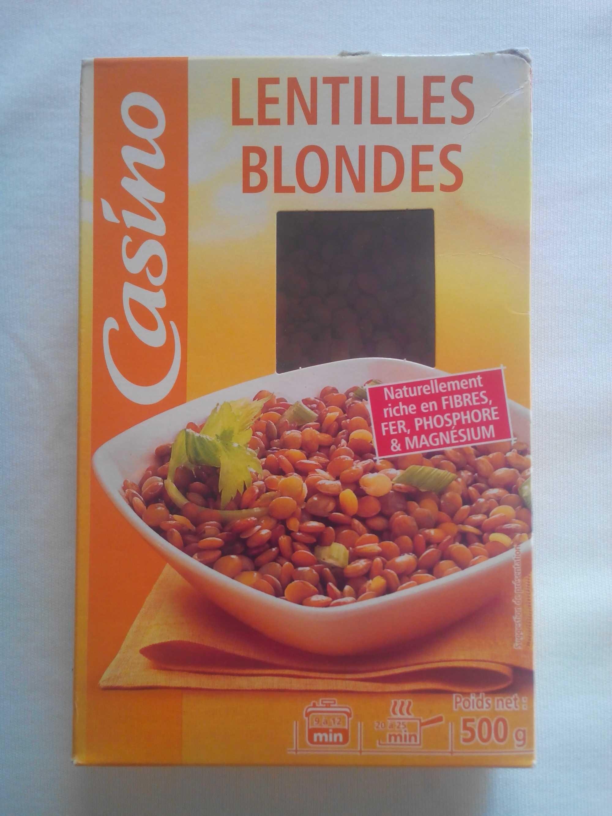 Lentilles blondes - Product - fr