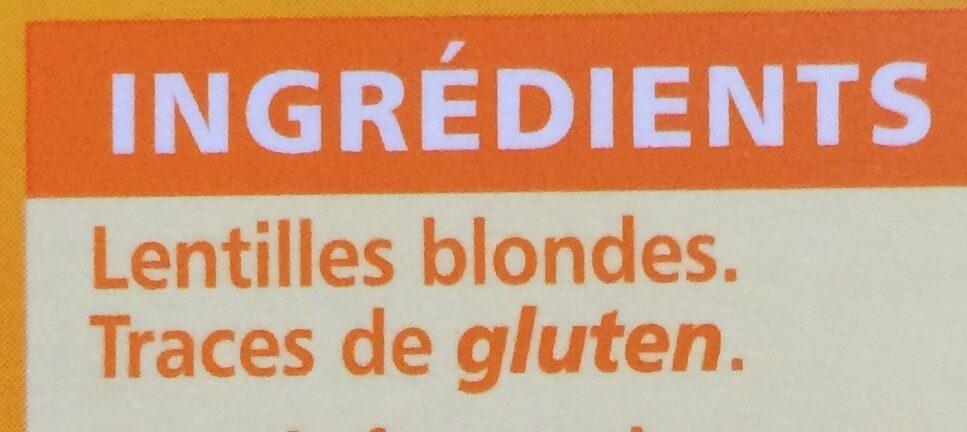 Lentilles blondes - Ingrediënten - fr