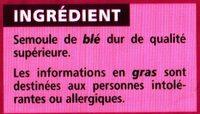 Semoule de blé fine - Ingrédients - fr