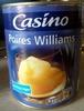 Poires Williams au sirop léger - Produit
