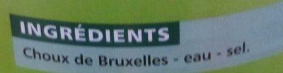 Choux de Bruxelles - Ingrédients